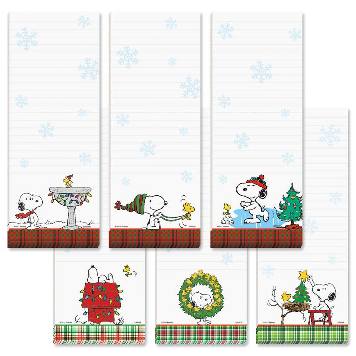 PEANUTS® Christmas Magnetic Lined Shopping List Pads