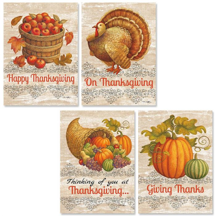 Harvest Time Thanksgiving Cards