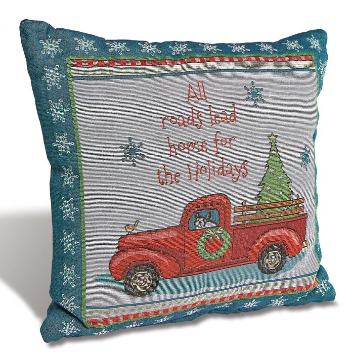 Holiday Highway Decorative Pillow