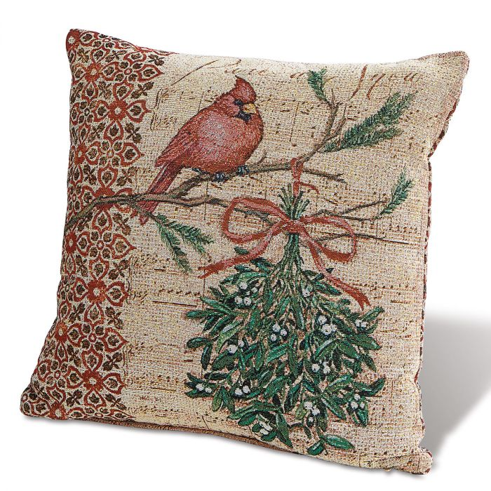 Holiday Cardinal Decorative Pillow