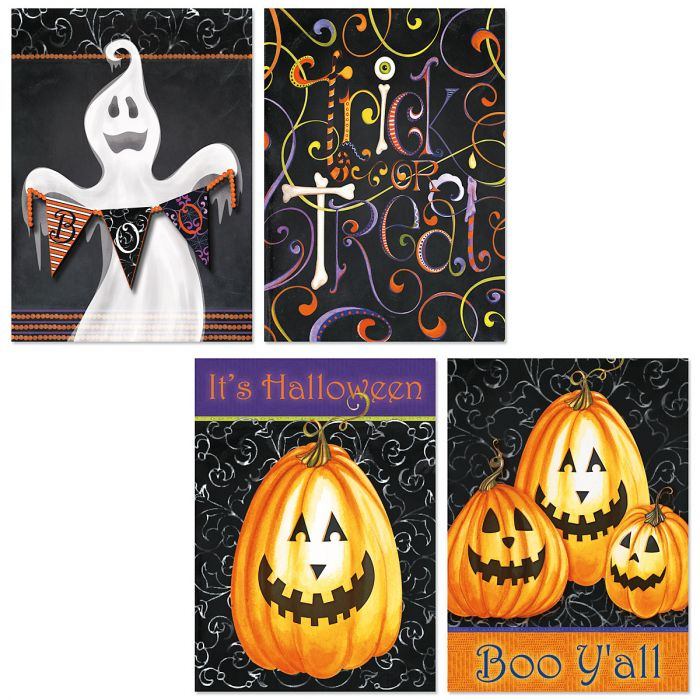 Spooky Swirly Halloween Cards