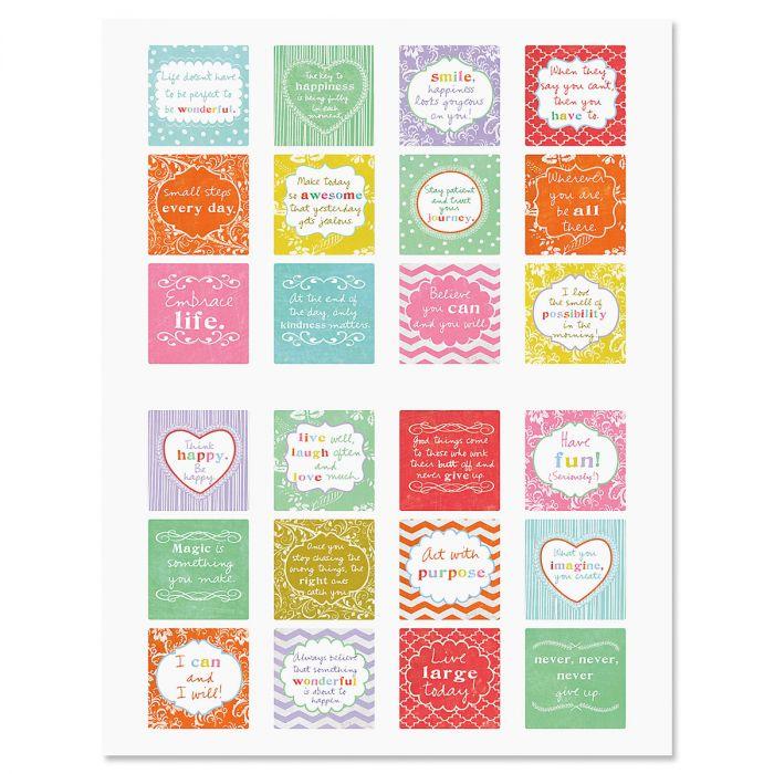 Cheerful Sentiments Envelope Sticker Seals