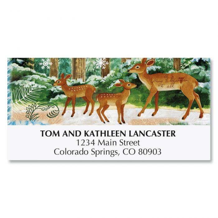 Deer Family Deluxe Address Labels