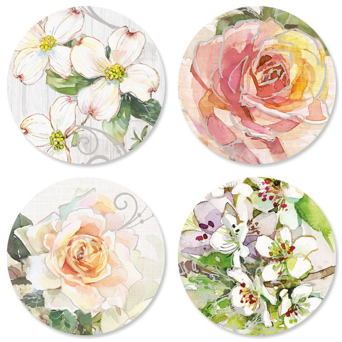 Deluxe Floral Anniversary Seals