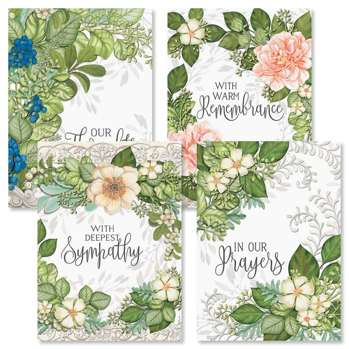 Warm Remembrance Sympathy Cards and Seals