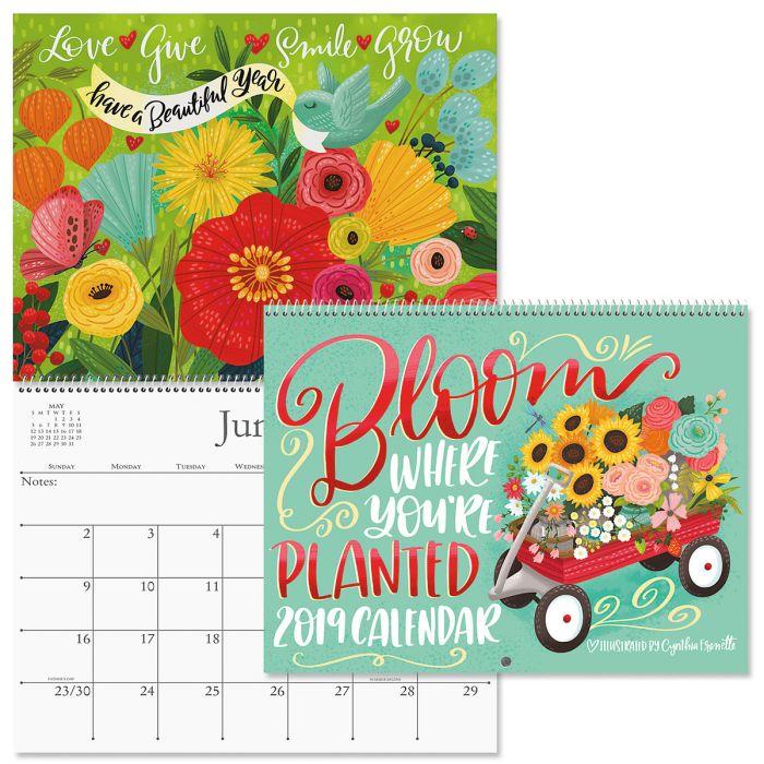 2019 Bloom Wall Calendar