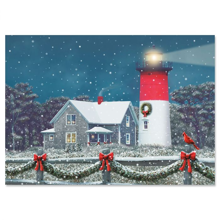 Nauset Lighthouse Christmas Cards - Personalized