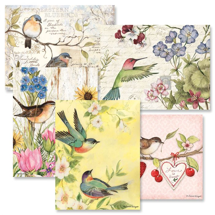 Seasonal Birds Note Cards
