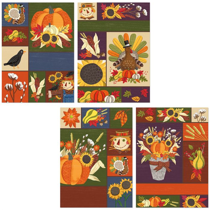 Deluxe Harvest Collage Cards
