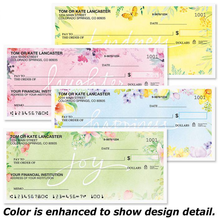 Fresh Floral Premium Checks