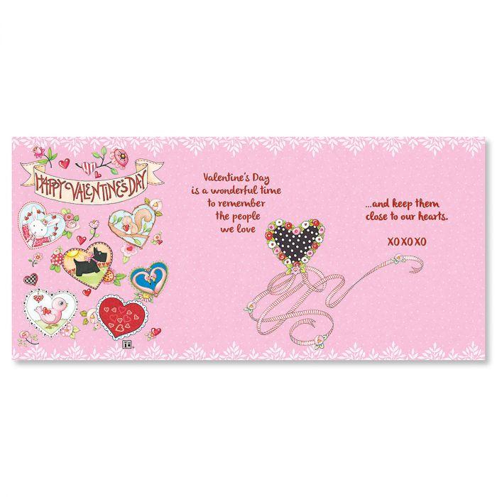 Deluxe Z-Fold Valentine Cards