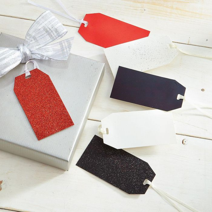 Red, Black, & White Gift Tags