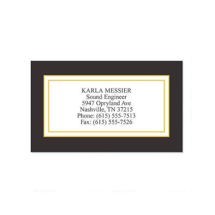 Black Classic Calling Card