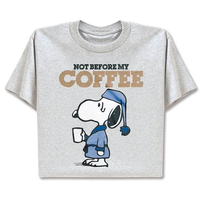 PEANUTS® T-Shirt - Not Before My Coffee - Large