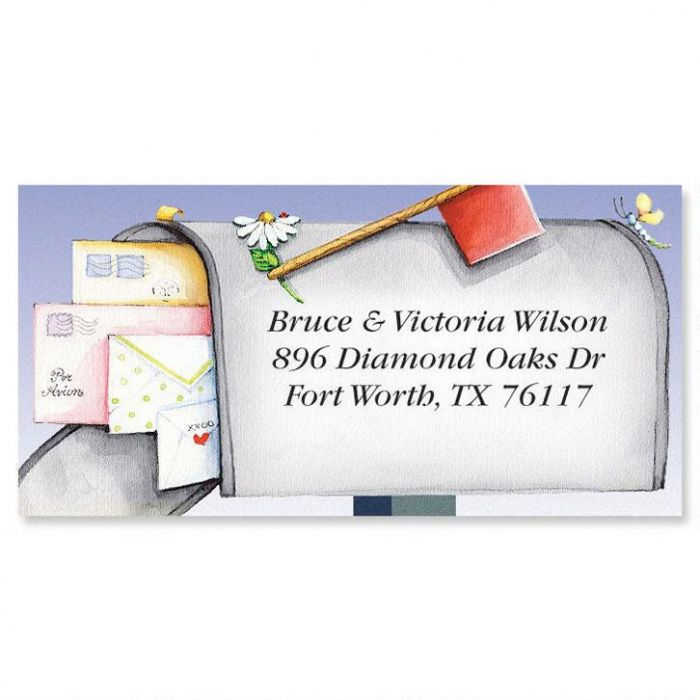 Keep In Touch Border Address Labels