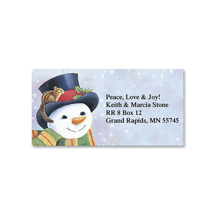 Snowman Border Address Labels