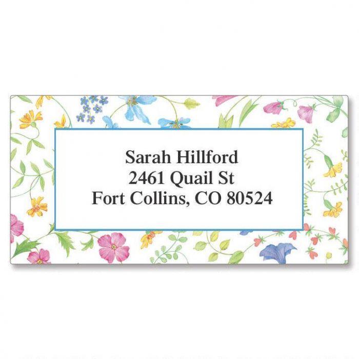 Delicate Floral Border Address Labels