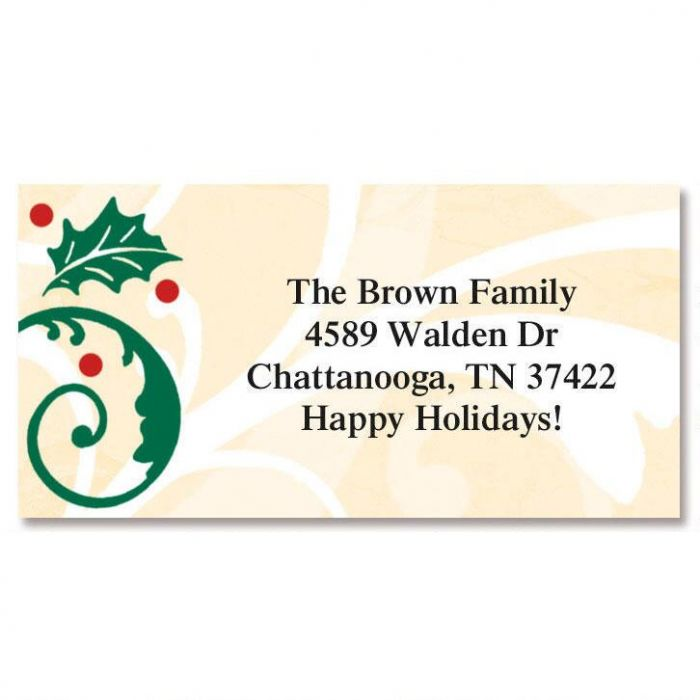 Fine Holiday Border Address Labels