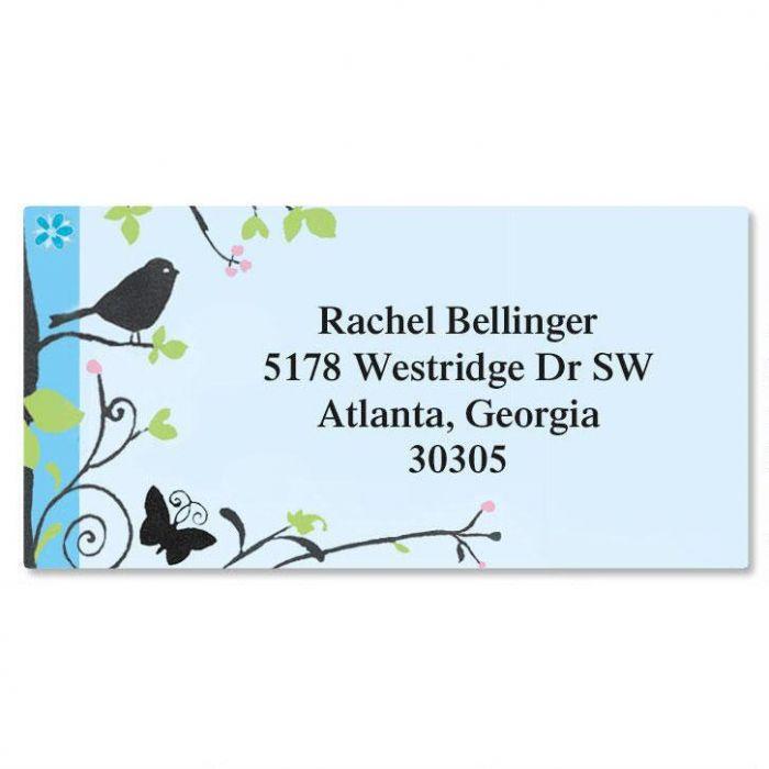 Songbird Border Address Labels