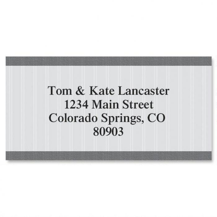 Pinstripe Border Address Labels