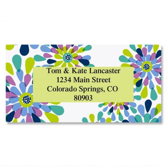 Fresh Blooms Border Address Labels