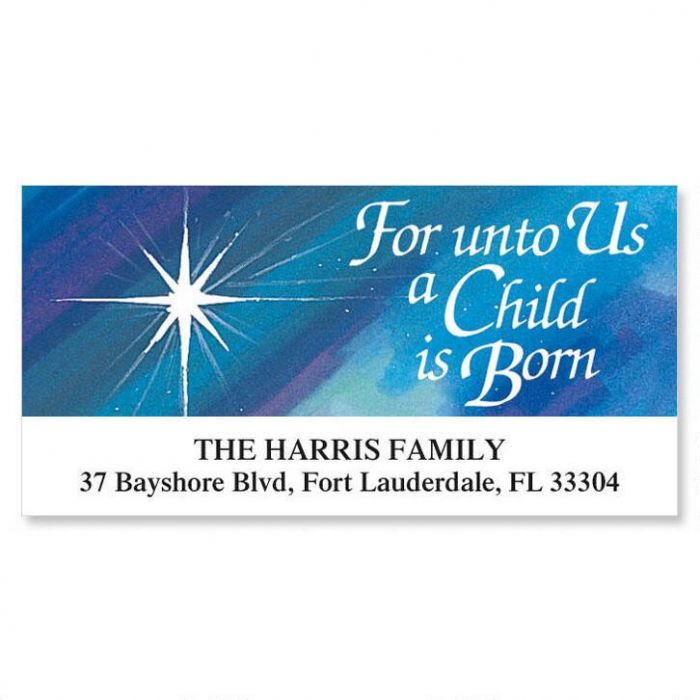 A Child Is Born Deluxe Address Labels