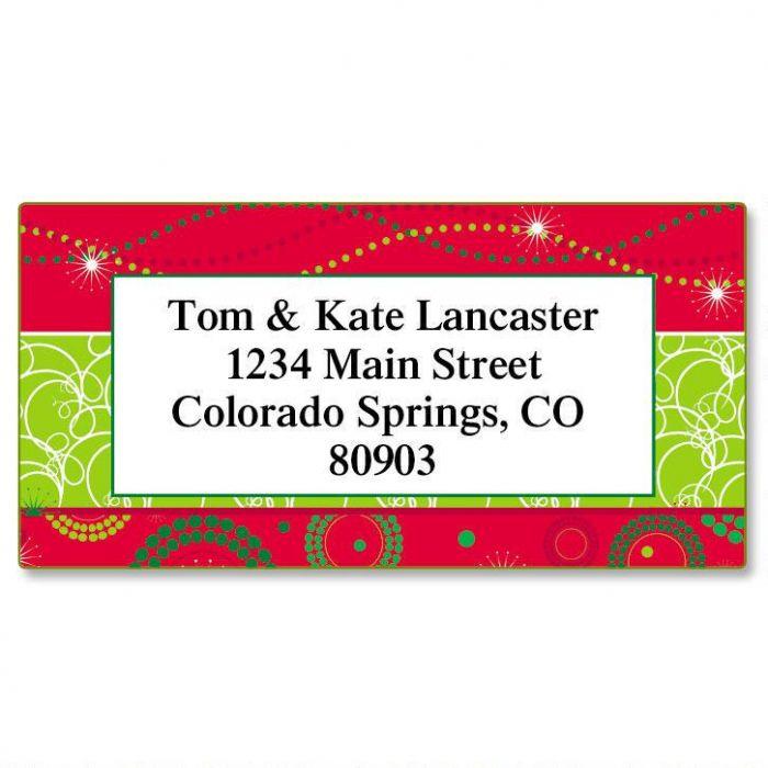 Merry Magic Border Address Labels