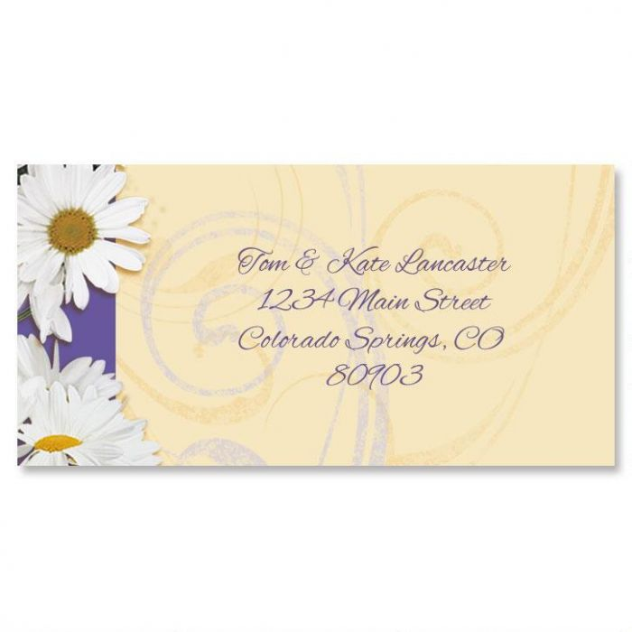 Daisy Dance Border Address Labels