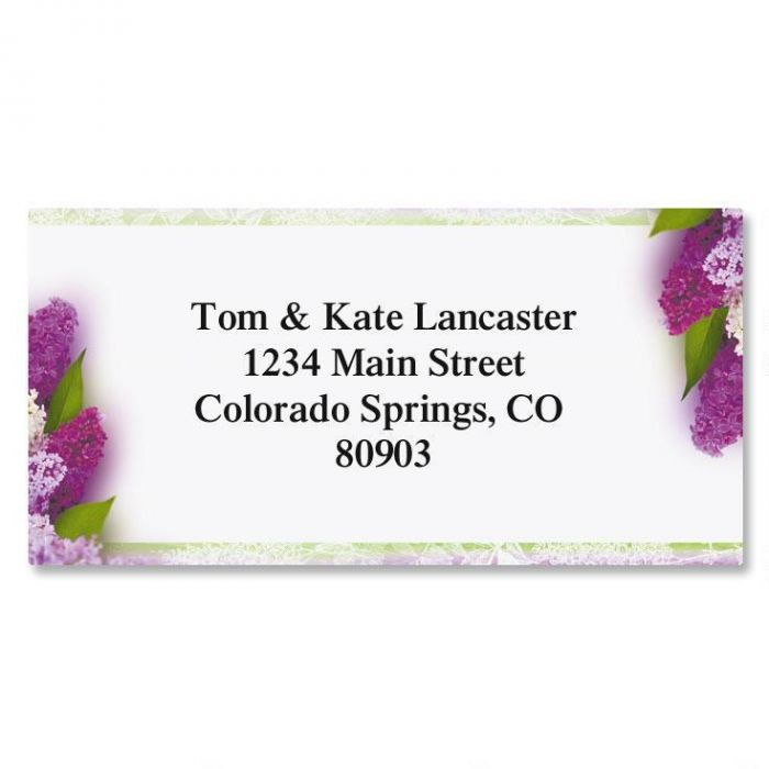 Sweet Lilacs Border Address Labels