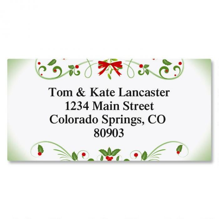 Mistletoe Magic Border Address Labels
