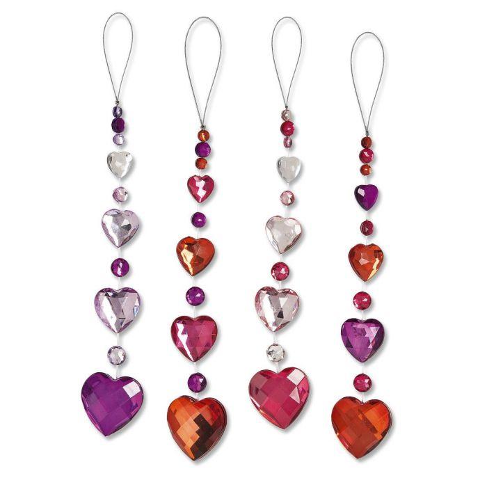 Cascading Heart Ornament