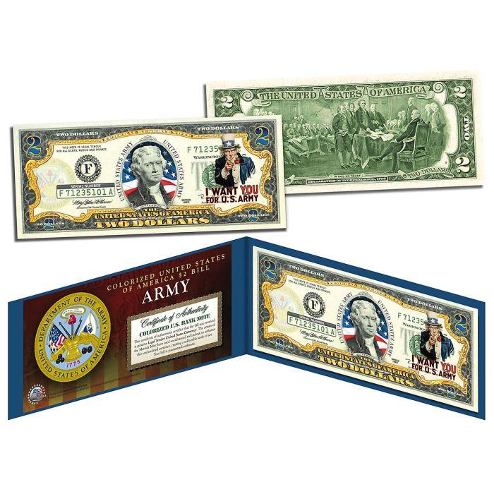 USA Army WWII 2 Dollar Bill