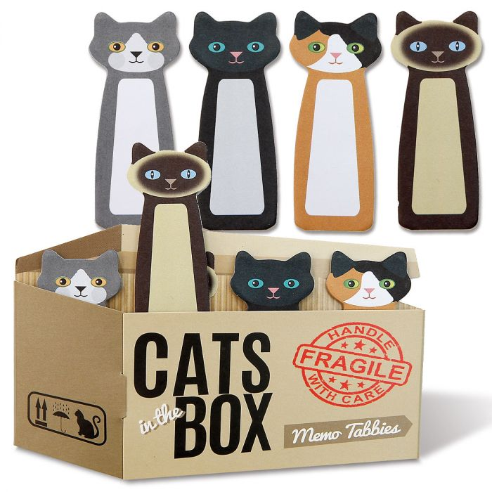 Cats in a Box Memo Tabs