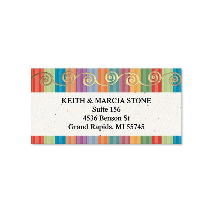 Color Caravan Foil Border Address Labels