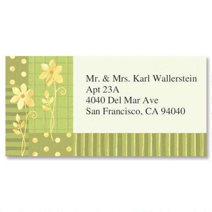 Gilded Field Foil Border Address Labels