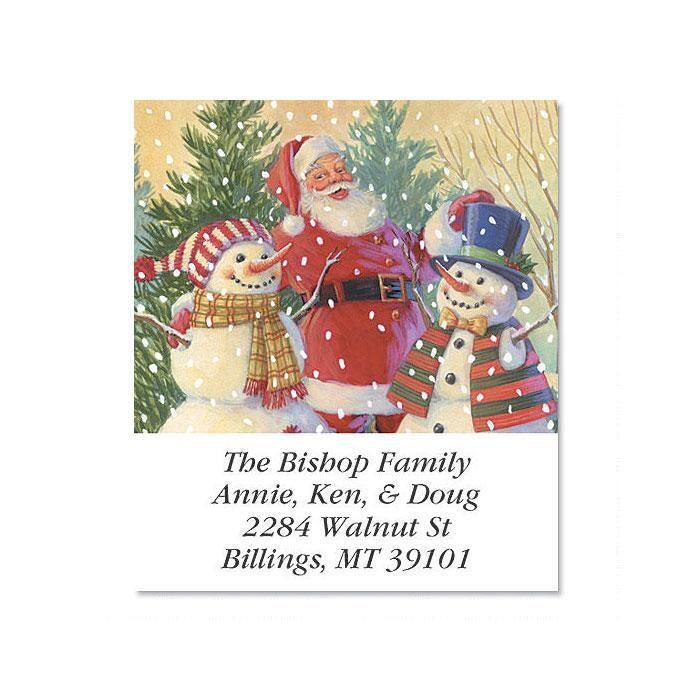 Santa's Snowmen Select Address Labels