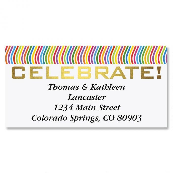Celebrate Foil Border Address Labels