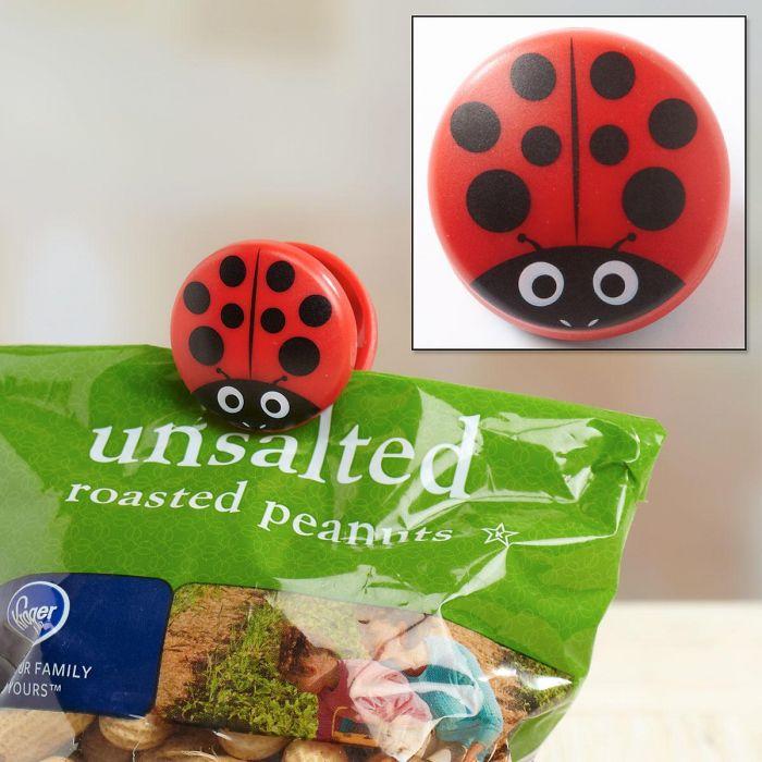 Ladybug Bag Clips