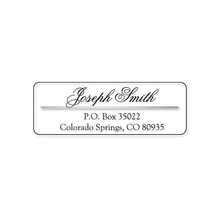 Silver/Clear Accent Label