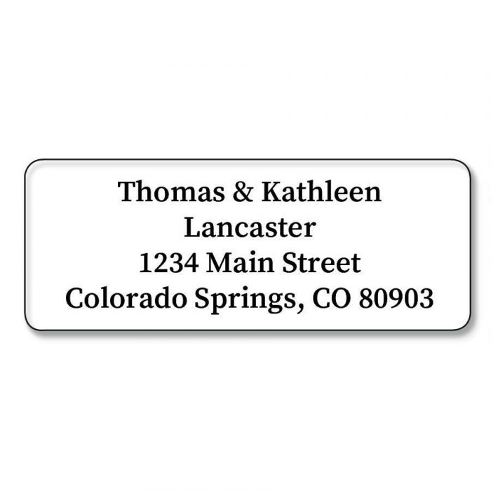 Clear Address Labels - 96 Count Sheets