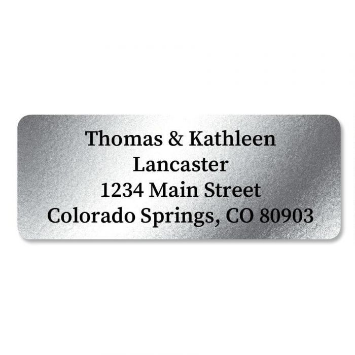 Silver Foil Premier Address Labels