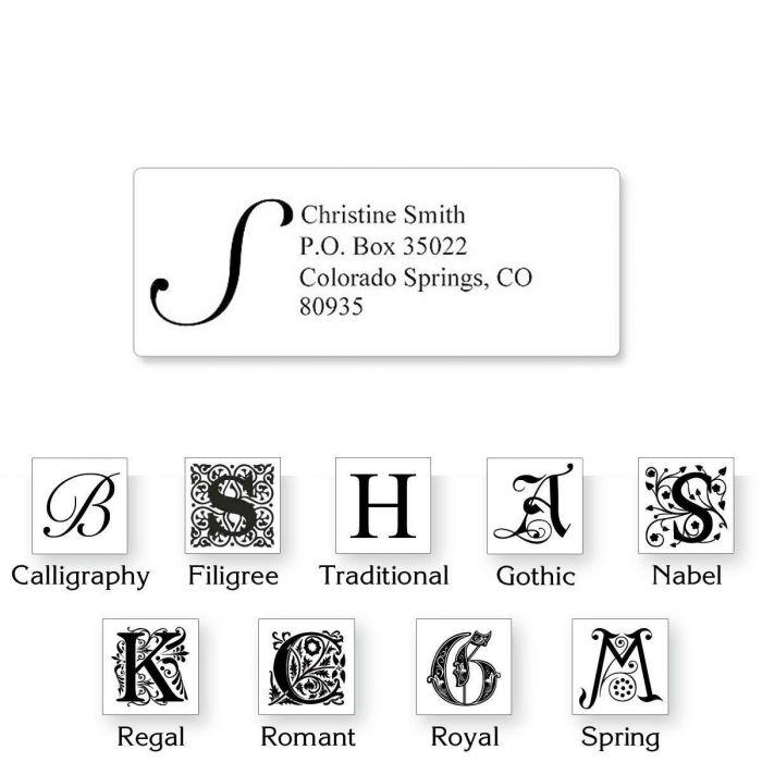 Monogram White Premier Address Labels