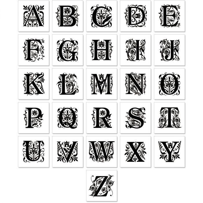 Monogram Clear Premier Address Labels