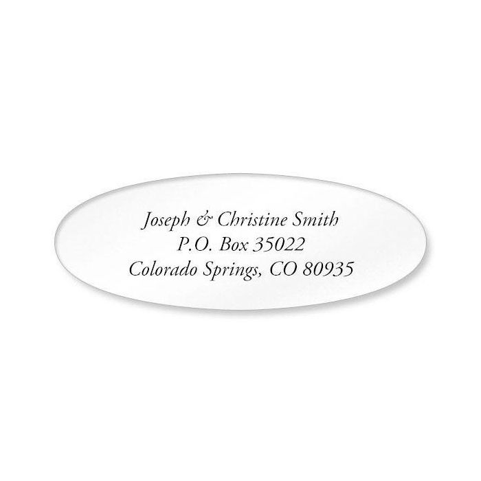 Clear Oval Premier Address Labels