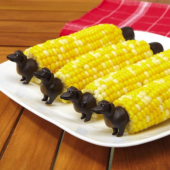Dog Corn Holder Sets