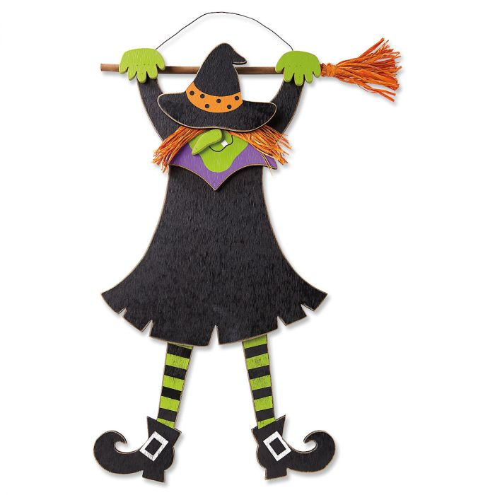 Hanging Wooden Witch