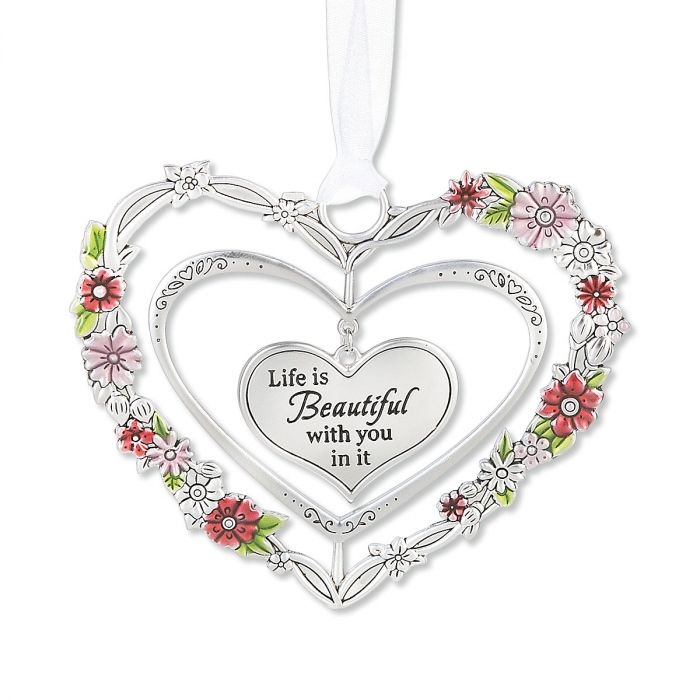 Blooming 3D Heart Ornament