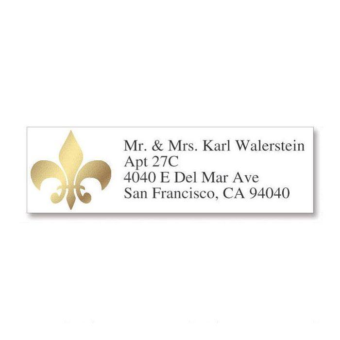 Fleur De Lis Foil Classic Address Labels