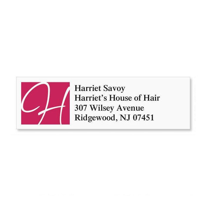Initial Name Classic Address Labels