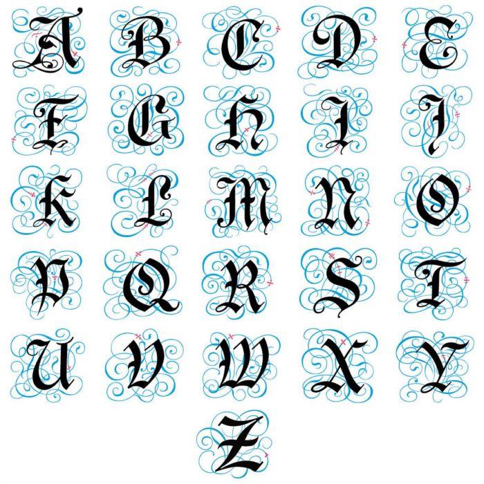 Gothic Monogram Classic Address Labels